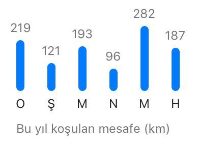 2019 Ocak-Mayıs koşu grafiğim