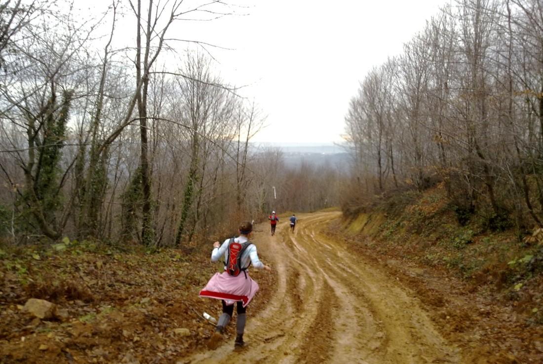 Başladıktan 6-7km sonra Elena, Aykut ve Hüseyin ile.