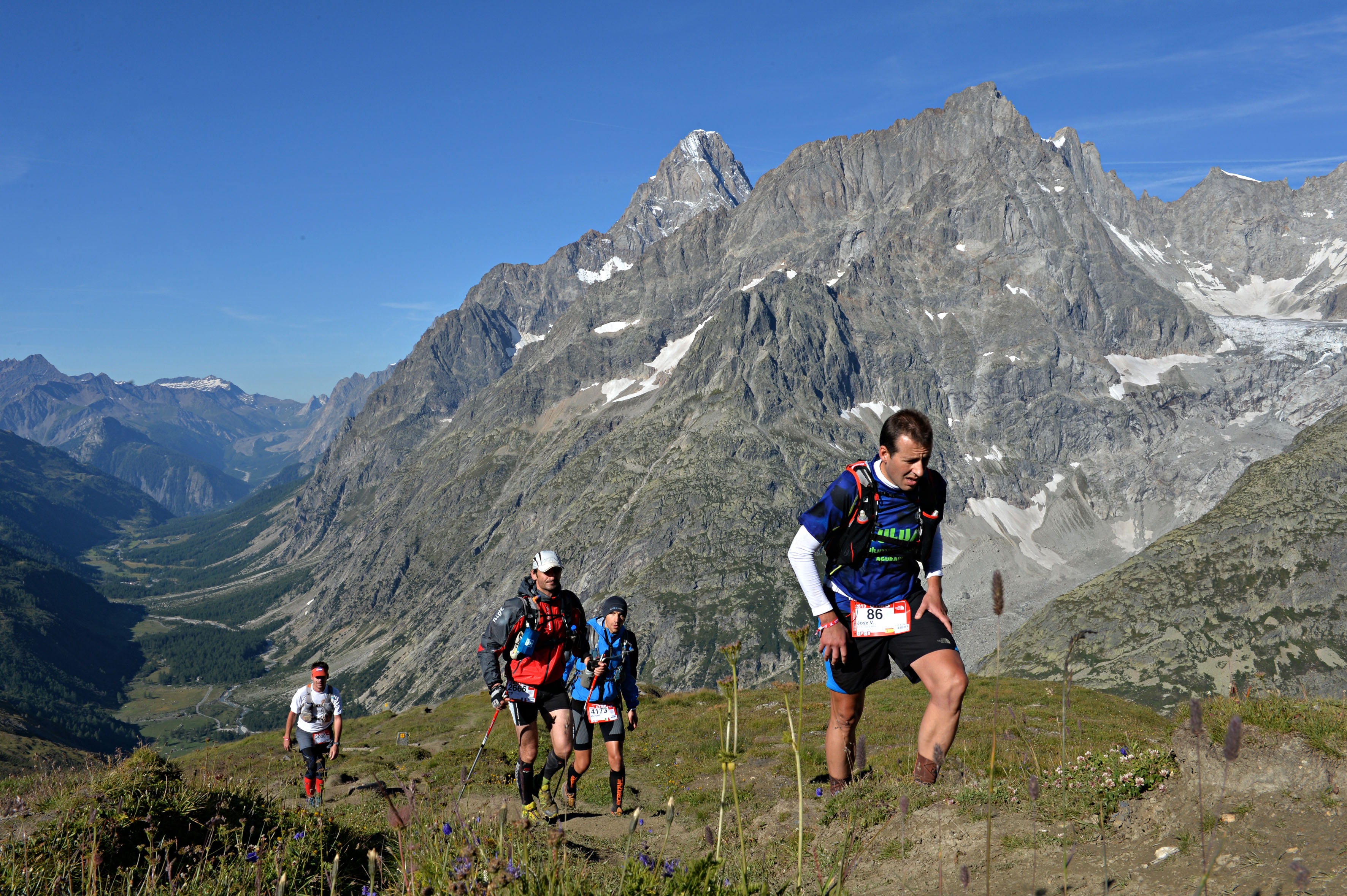 Grand Col Ferret'a çok az kaldı... Foto: © The North Face® Ultra-Trail du Mont-Blanc® - Pascal Tournaire