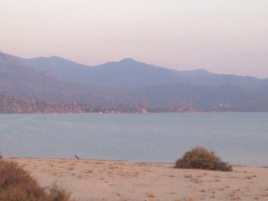 Bafa Gölü doğu kıyılarından Kapıkırı köyü ve kamp alanımız.