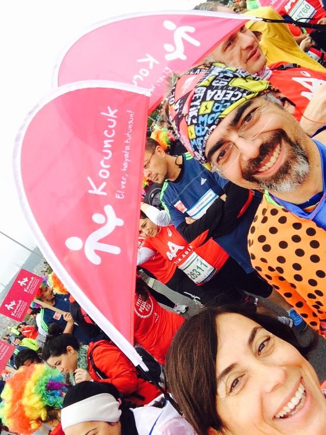 Pre race Selfie; Koruncuk Team